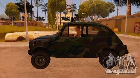 Zastava 750 4x4 Camo pour GTA San Andreas laissé vue