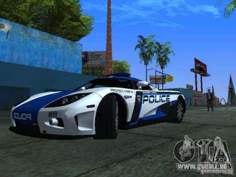 Koenigsegg CCX Police pour GTA San Andreas laissé vue