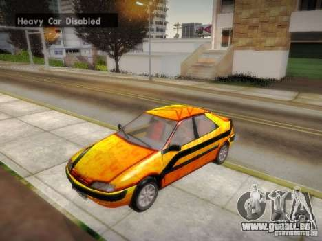 Citroën Xantia für GTA San Andreas obere Ansicht