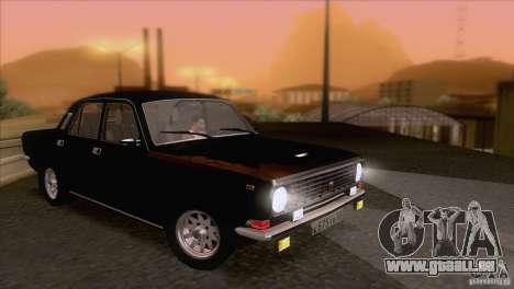 Volga GAZ 24-10 pour GTA San Andreas vue de dessus