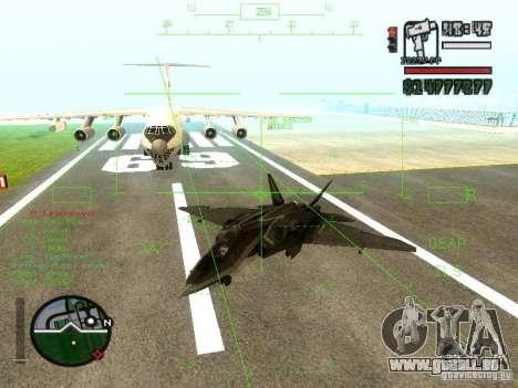 Xa-20 razorback pour GTA San Andreas sur la vue arrière gauche
