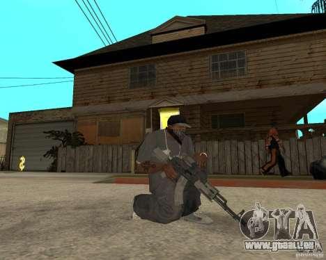 AK47 avec le viseur optique standard pour GTA San Andreas deuxième écran