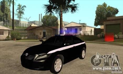 Toyota Camry 2010 SE Police RUS für GTA San Andreas