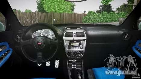 Subaru Impreza v2 für GTA 4 Innenansicht