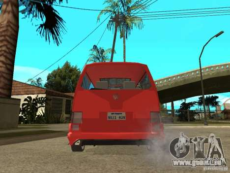 VW T4 Eurovan VR6 BiTurbo 20T für GTA San Andreas zurück linke Ansicht