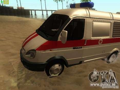 Gazelle 32214 Ambulance pour GTA San Andreas laissé vue