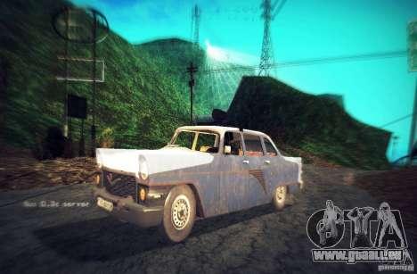 Gas 13 Polizei Kuba für GTA San Andreas Rückansicht