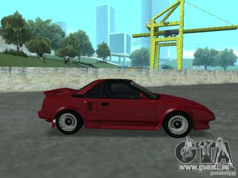 Toyota MR2 pour GTA San Andreas sur la vue arrière gauche