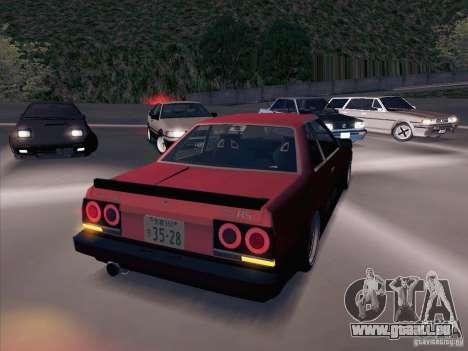 Nissan Skyline RS TURBO (R30) pour GTA San Andreas vue arrière