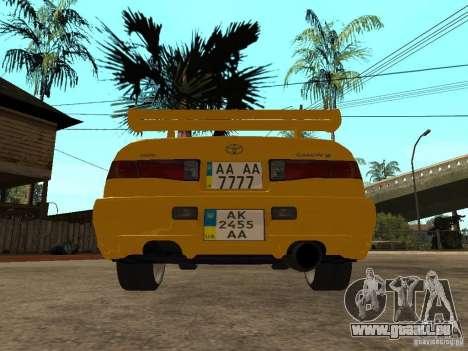 Toyota Camry TAXI für GTA San Andreas zurück linke Ansicht