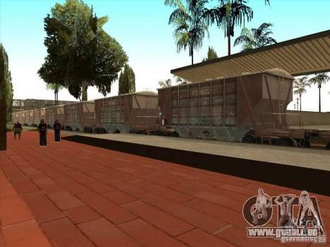 Wagons pour GTA San Andreas vue arrière