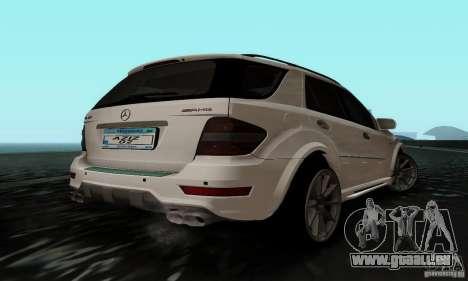 Mercedes Benz ML63 AMG pour GTA San Andreas laissé vue