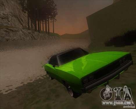Dodge Charger RT 1968 für GTA San Andreas Rückansicht