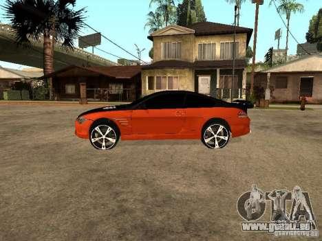 BMW M6 für GTA San Andreas linke Ansicht