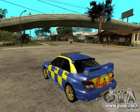 Subaru Impreza STi police für GTA San Andreas linke Ansicht