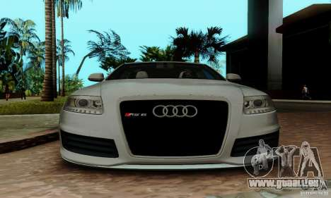 Audi RS6 2009 für GTA San Andreas obere Ansicht