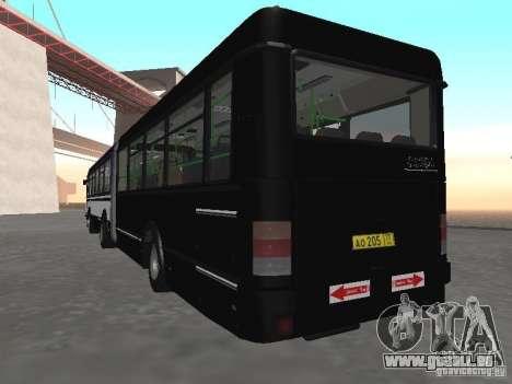 Autobus 6222 pour GTA San Andreas vue arrière