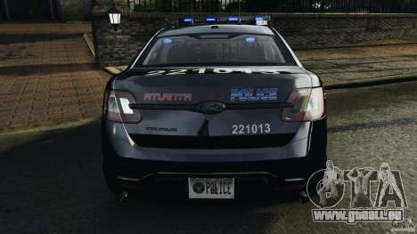 Ford Taurus 2010 Atlanta Police [ELS] pour GTA 4 Salon