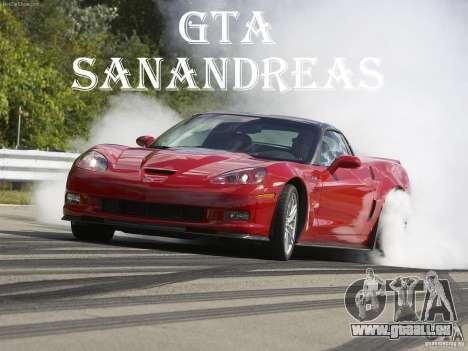 Chargement des écrans Chevrolet Corvette pour GTA San Andreas quatrième écran