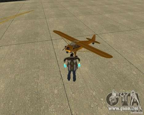 Transport aérien Pak pour GTA San Andreas sur la vue arrière gauche