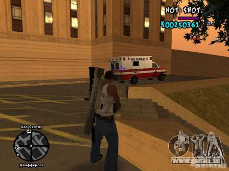 HUD by Hot Shot für GTA San Andreas her Screenshot