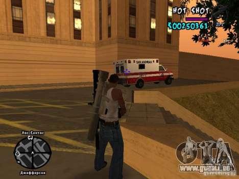 HUD by Hot Shot pour GTA San Andreas quatrième écran