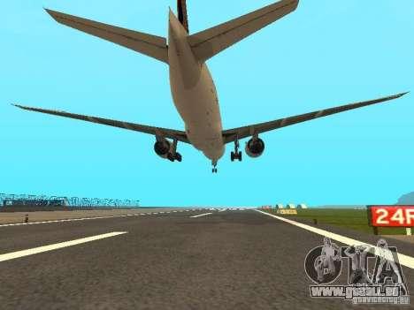 Boeing 777-200 Singapore Airlines pour GTA San Andreas vue arrière