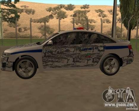 Audi RS6 2010 DPS pour GTA San Andreas salon