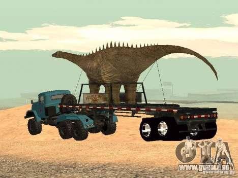 Dinosaurier-Trailer für GTA San Andreas