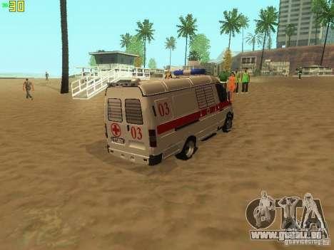 Gazelle 32214 Krankenwagen für GTA San Andreas zurück linke Ansicht