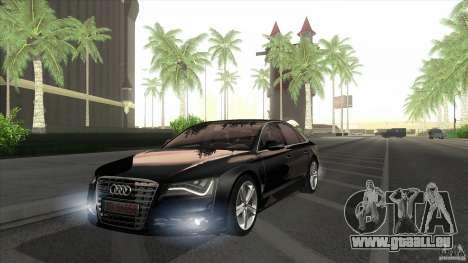 Audi S8 2012 pour GTA San Andreas vue de droite