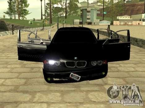 BMW M5 für GTA San Andreas obere Ansicht