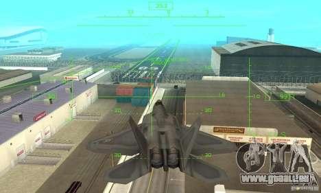 F-22 Grey pour GTA San Andreas vue de dessous