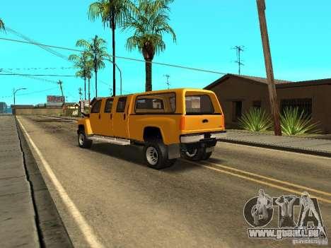 GMC TopKick pour GTA San Andreas sur la vue arrière gauche