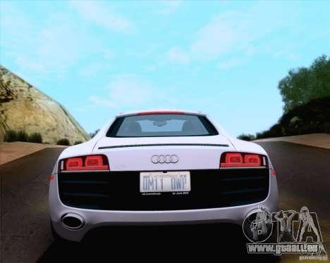 Audi R8 v10 2010 pour GTA San Andreas vue intérieure