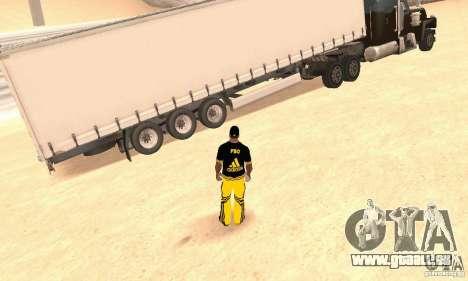 Krone Trailer pour GTA San Andreas sur la vue arrière gauche