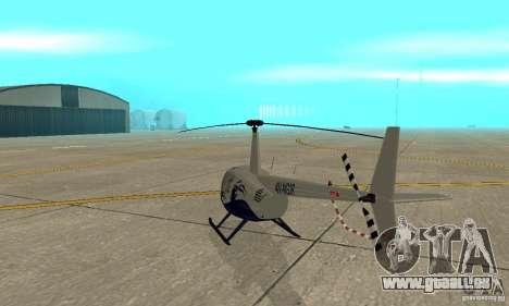 Robinson R44 Raven II NC 1.0 Haut 4 für GTA San Andreas rechten Ansicht