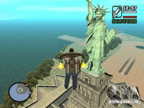 The Statue Of Liberty für GTA San Andreas zweiten Screenshot