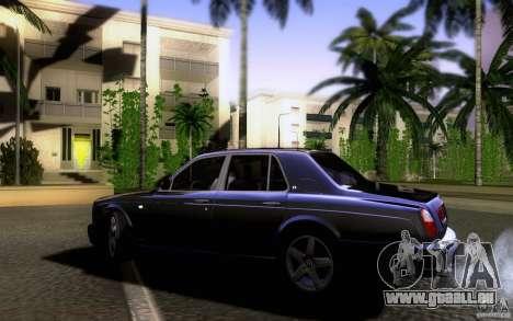 Bentley Arnage pour GTA San Andreas laissé vue