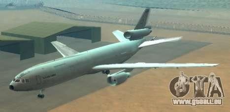 McDonell Douglas KC-10A Extender pour GTA San Andreas vue de côté