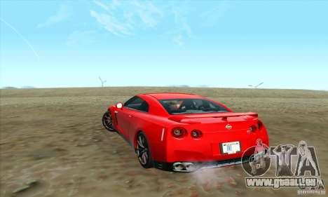 Nissan GT-R R-35 2012 pour GTA San Andreas laissé vue