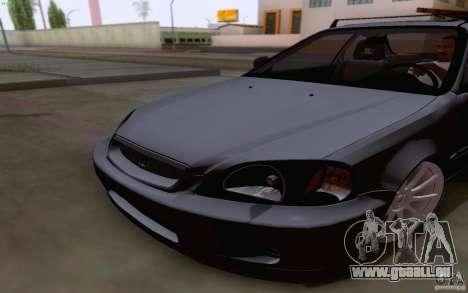 Honda Civic 1999 für GTA San Andreas Innenansicht