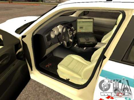 Dodge Charger Police NYPD für GTA San Andreas zurück linke Ansicht