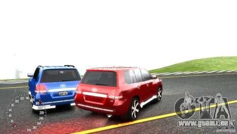 Toyota Land Cruiser 200 RESTALE pour GTA 4 est un côté