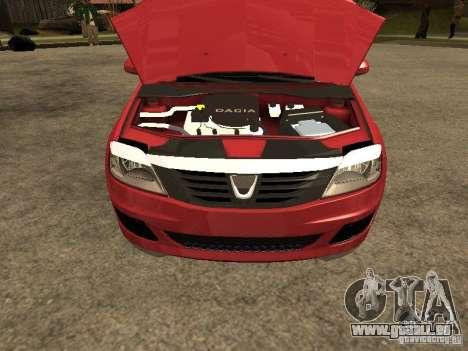 Dacia Logan Rally Dirt pour GTA San Andreas vue de droite