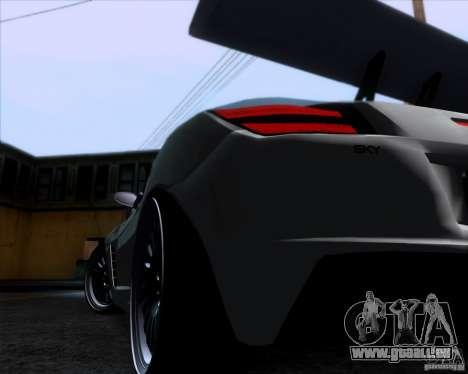 Saturn Sky Roadster pour GTA San Andreas vue arrière