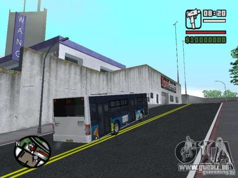 CityLAZ 12 LF pour GTA San Andreas vue de droite