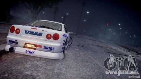 Nissan Skyline R-34 v1.0 pour GTA 4 est un droit