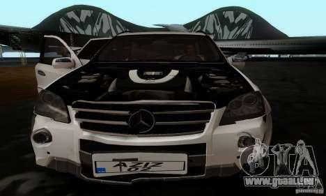 Mercedes Benz ML63 AMG pour GTA San Andreas vue arrière