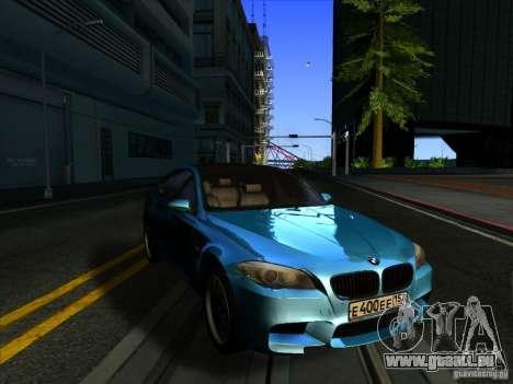 BMW 535i F10 pour GTA San Andreas sur la vue arrière gauche